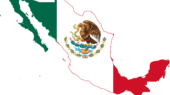 Mexico Flag Map Svg