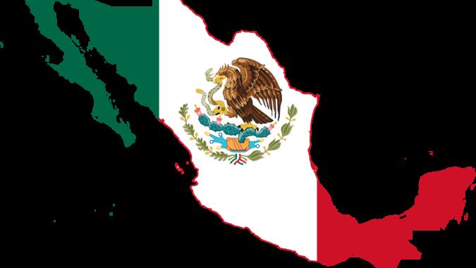Mexico Flag Map Svg